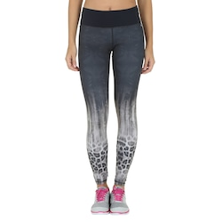Calça Legging com Proteção Solar UV Oxer Breeze - Feminina - PRETO/CINZA