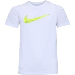 Camiseta Nike Dry Leg Storm Swoosh - Infantil - Branco/Verde Cla