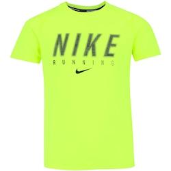 Camiseta Nike Dry Top SS Miler GFX - Infantil - VERDE CLARO