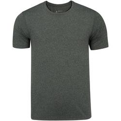 Camiseta Oxer Básica Mescla - Masculina - CINZA ESCURO