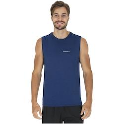 Camiseta Regata Oxer Básica Mescla - Masculina - AZUL ESCURO