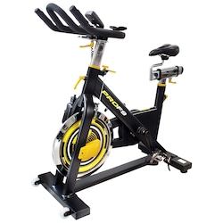 Bicicleta Spinning Kikos F9 - Preto/Amarelo Cla