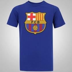 Camiseta Barcelona Evergreen Crest Nike - Infantil - AZUL ESCURO