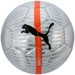 Bola de Futebol de Campo Puma One Chrome Ball - PRATA/LARANJA