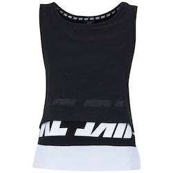 Camiseta Regata Nike NSW AV15 - Feminina - PRETO/BRANCO