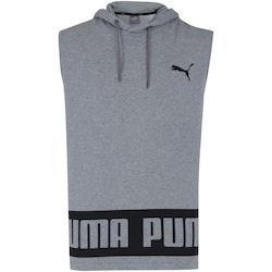 Camiseta Regata com Capuz Puma Rebel HD TR - Masculina - CINZA