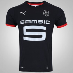 Camisa Stade Rennais III 17/18 Puma - Masculina - PRETO