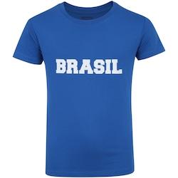 Camiseta do Brasil Fan 2018 nº 10 Adams - Infantil - AZUL