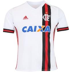 Camisa Do Flamengo Ii 2017 Adidas Com Patrocínio - Infantil -  Branco vermelho 040c385d2bba0