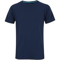 Camiseta Oxer Run Energy - Masculina - AZUL ESC/AZUL CLA