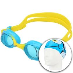 fb40d1ef5 Kit de Natação Hammerhead Fun Set Kids com Óculos e Touca - Infantil - AZUL
