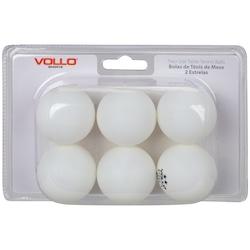 Kit de Bolas de Tênis de Mesa/Ping-Pong Vollo com 6 Unidades - BRANCO