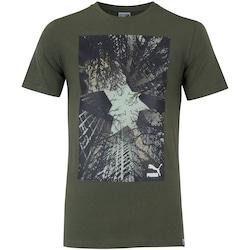 Camiseta Puma Brand Photo Tee - Masculina - VERDE ESCURO