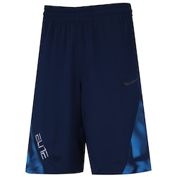 Bermuda Nike Elite Posterize - Masculina - AZUL ESCURO