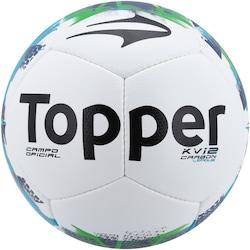 Bola de Futebol de Campo Topper KV Carbon League - BRANCO/VERDE