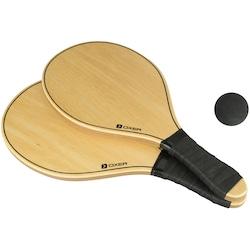 Kit de Frescobol Oxer Line com 2 Raquetes + 1 Bola - PRETO