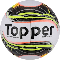 Bola Society Topper Champion II - BRANCO/PRETO
