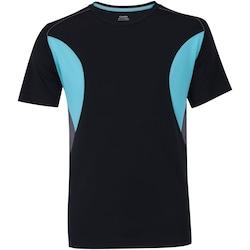 Camiseta Oxer Breeze - Masculina - PRETO/AZUL CLA