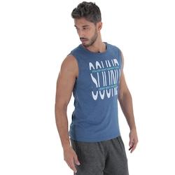 Camiseta Regata Oxer Sound - Masculina - AZUL ESCURO