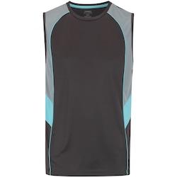 Camiseta Regata Oxer Arrow - Masculina - CINZA ESC/AZUL CLA