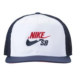 Boné Aba Reta Nike SB - Snapback - Trucker - Adulto - AZUL ESC/BRANCO