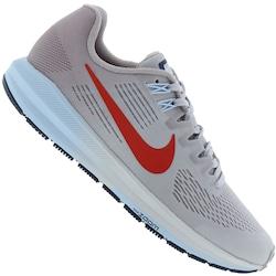 Tênis Nike Air Zoom Structure 21 - Feminino - CINZA CLA/VERMELHO