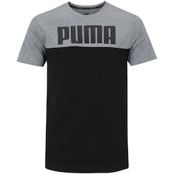 Camiseta Puma Rebelblock - Masculina - PRETO/CINZA