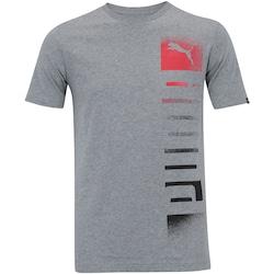 Camiseta Puma Shade Logo - Masculina - CINZA