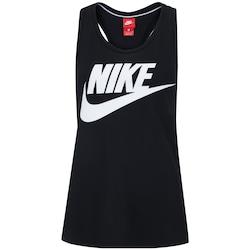 Camiseta Regata Nike Essential Tank HBR - Feminina - PRETO/BRANCO