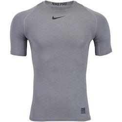 565352ce6c Camisa De Compressão Nike Pro Top Ss - Masculina - Cinza Escuro preto