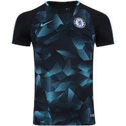 Camisa Pré-Jogo Chelsea Nike 17/18 - Masculina - PRETO/AZUL CLA
