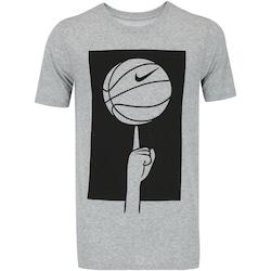 Camiseta Nike Dry Spinning Ball - Masculina - CINZA