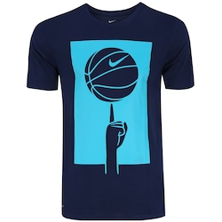 Camiseta Nike Dry Spinning Ball - Masculina - AZUL ESCURO