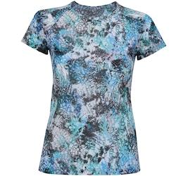 Camiseta Oxer Sublimada BF17 - Feminina - AZUL/PRETO