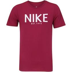 Camiseta Nike Ho Art - Masculina - VINHO/BRANCO