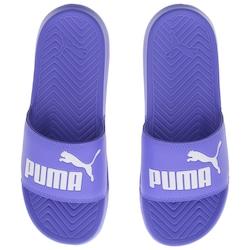 Chinelo Puma Popcat - Slide - Unissex - AZUL/BRANCO