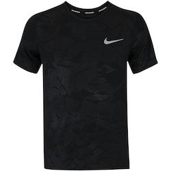 Camiseta Nike Dry Miler SS Print - Masculina - PRETO
