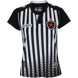 a7ecb16f1ca90 Camisa Do Botafogo-pb I 2017 Nº 10 Numer - Feminina - Preto branco