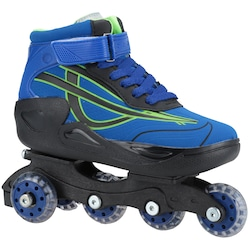 Patins Oxer Roller Boot - In Line - Adulto - AZUL/PRETO