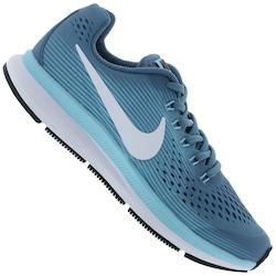 Tênis Nike Zoom Pegasus 34 Feminino - Infantil - AZUL/BRANCO