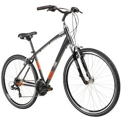 Bicicleta Caloi 700 - Freio V-Brake - Câmbio Shimano - 21 Marchas - CINZA ESCURO