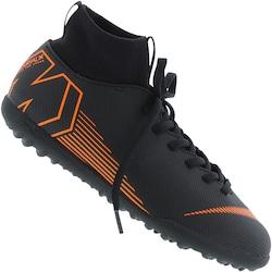 5ba9a6e872 Chuteira Society Nike Mercurial Superfly X 6 Club Tf - Infantil - Preto  laranja Esc