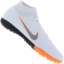 Chuteira Society Nike Mercurial Superfly X 6 Academy Tf - Adulto - Branco  cinza 89d4308790835