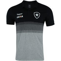 Camisa Polo do Botafogo Viagem Atleta 2018 Topper - Masculina - PRETO/CINZA ESC