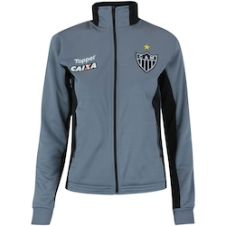 Jaqueta do Atlético-MG Viagem Comissão Técnica 2018 Topper - Feminina - CINZA