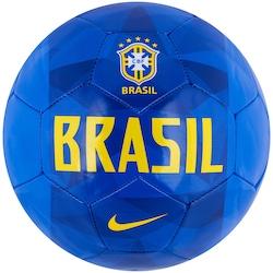 Bola De Futebol De Campo Da Seleção Brasileira 2018 Nike Supporters -  Azul ouro 5e9b854c946a4