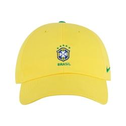 Boné Aba Curva Da Seleção Brasileira 2018 Nike H86 Core - Strapback -  Adulto - Amarelo bf66ea37ba4