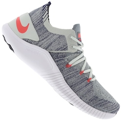 Tênis Nike Free TR Flyknit 3 - Feminino - CINZA CLA/AZUL