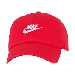 Boné Aba Curva Nike Sportswear H86 Futura Washed - Strapback - Adulto - VERMELHO