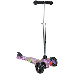 Patinete 3 Rodas Spin Roller Estampa Boy com Luzes de Led - Infantil - PRETO/VERDE
